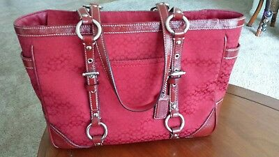 Coach Red Purse Excellent Previously Owned Condition - Only $30