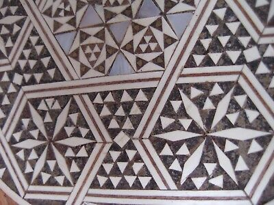 Old Egypt MOSAIC inlay ROSEWOOD Egyptian Middle Eastern Mughal Mogul plate 20cm