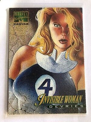 1995 Marvel Masterpieces Canvas Card #11 Invisible Woman