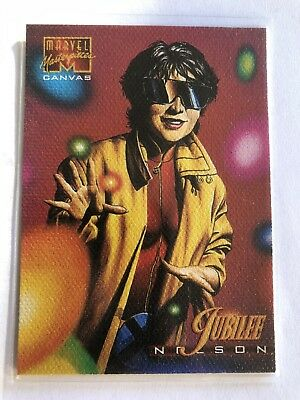 1995 Marvel Masterpieces Canvas Card #12 Jubilee
