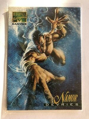 1995 Marvel Masterpieces Canvas Card #14 Namor