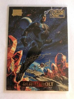 1994 Fleer Marvel Masterpieces Gold Foil Signature Series Card #5 Black Bolt