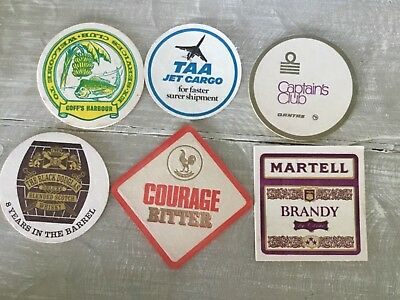 Vintage Beer Coasters x 6 Assorted #SundayMarket