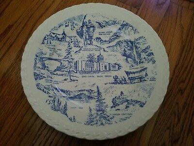"""State of OREGON 10-1/4"""" Collectible Plate By Vernon Kilns U.S.A. - Vintage"""