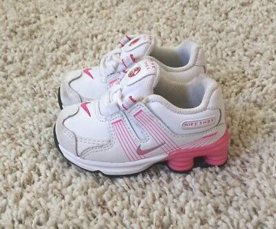 0ca3dab8932e4a NIKE SHOX TURBO Baby Girls Pink   White Shoes. Size 5c -  11.99 ...