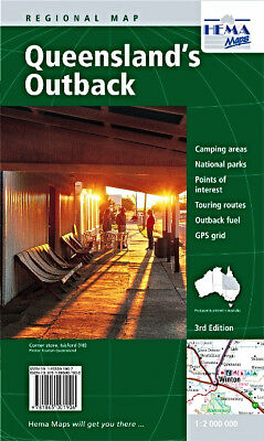 Hema Maps Queensland Regional Large 3rd ED Australia Handy State Map new