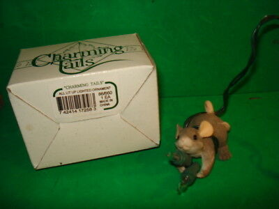 Charming Tails All Lit Up Lighted Ornament