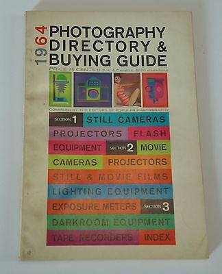 Popular Photography Directory & Buying Guide Cameras 1963 1964 2 Magazines