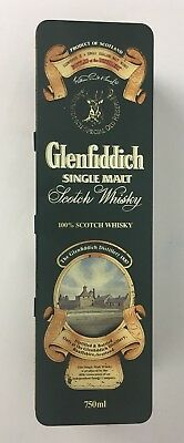 Glenfiddich Single Malt Scotch Whisky Tin Container Empty Metal Box UK Vintage