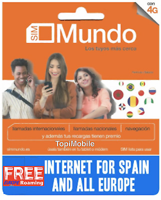 SIM / Micro / Nano Prepaid Card ORANGE MUNDO 5 €. ROAMING EUROPE INLCUDED!!