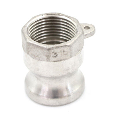 """3/4"""" A Trash Pump Adapter Male Camlock x Female Pipe Threads Stainless Steel PT"""