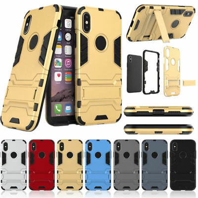 Shockproof Armor Hard Rugged Hybrid Stand Case Cover For iPhone X 8 6s 7 Plus SE