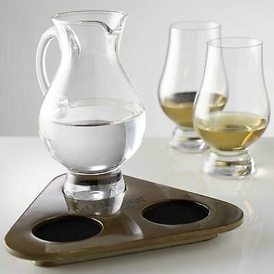 The Glencairn Official 2 Glasses and Jug Whisky Flight Tasting Tray