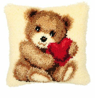 Vervaco Teddy Latch Hook Cushion, Multi-Colour
