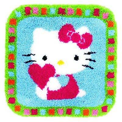 Vervaco Hello Kitty with a Heart Latch Hook Rug, Multi-Colour
