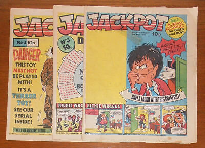JACKPOT Comic Issues No. 1, 3 and 4 - 1979  Buster 1st UK