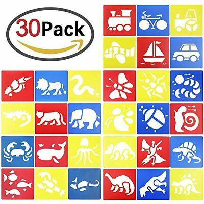 GeMoor 30pack Washable Stencils, Bug Stencil for Kids Art Crafts, School Project