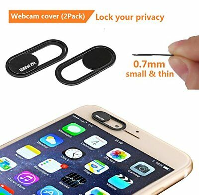 Webcam Cover 0.7mm THIN - Magnet Slider Camera cover - Protects your privacy, St
