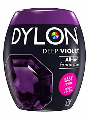 DYLON Machine Dye Pod, Deep Violet, easy-to-use fabric colour for laundry, 350g
