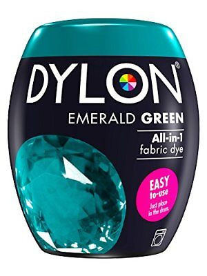 DYLON Machine Dye Pod, Emerald Green, easy-to-use fabric colour for laundry, 350