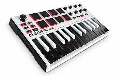 AKAI Professional MPK Mini MKII 25-Key Portable USB MIDI Keyboard with 16 Backli