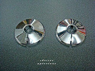 Chrome Plated 15Mm Talon Radiator Pipe Collar Covers Pack Of 2