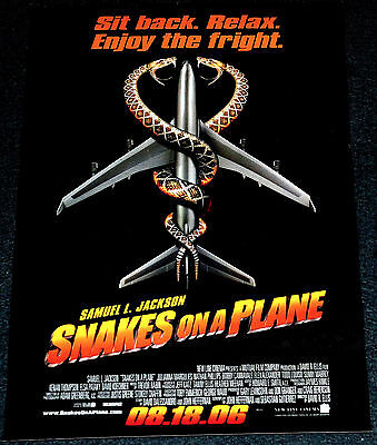SNAKES ON A PLANE 2006 ORIGINAL DS 11x17 MOVIE POSTER! SAM JACKSON EXPLOITATION!