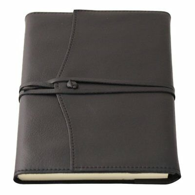 Amalfi Large Refillable Leather Journal with Lined Paper - Black
