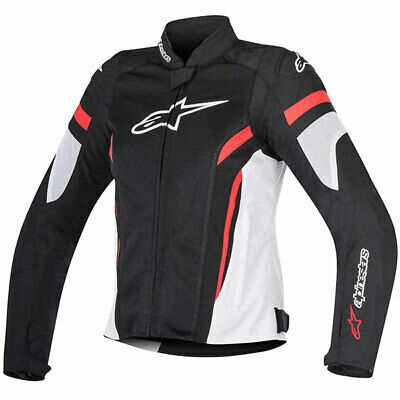 Alpinestars Motorcycle Stella T-GP Plus R V2 Air Textile Jacket Black White Red