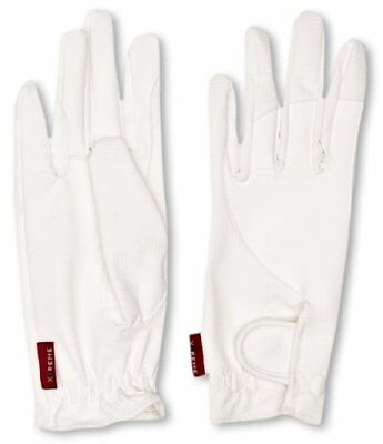 Toggi Andorra Leatherette Riding Glove - White, Large