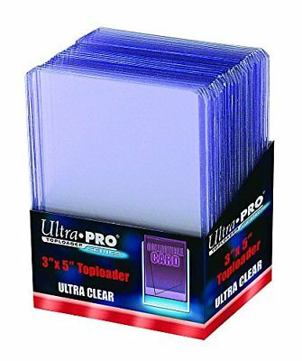 25 Ultra Pro Tall Cards Widevision Toploader - Ultra Clear - Top Loader - 3 x 5
