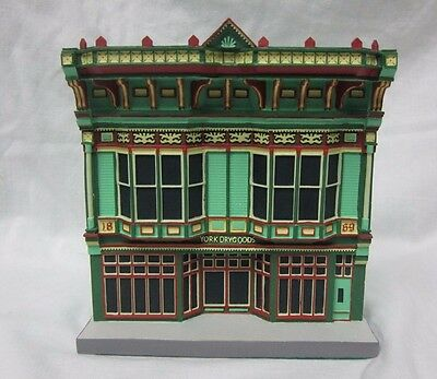 MIB Lefton Victorian Queens Painted YORK DRY GOODS HO SCALE Building Resin