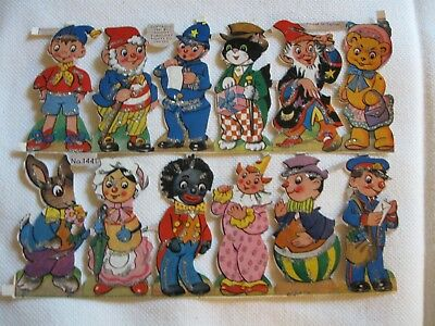 Vintage Scarce Noddy Characters Stickers 1961  #1441  Enid Blyton Full Sheet