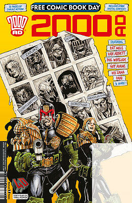 2000AD FCBD 2017 VFN Bagged & Boarded Direct from comic store, no stamp