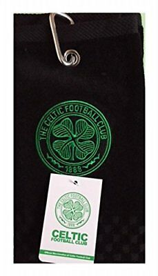New 2018 Celtic Fc Cross Tri Fold Golf Towel By Premier Licensing.