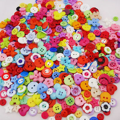 50/100pcs Lots Mix Assort Plastic Buttons Scrapbooking Sewing Craft PF98