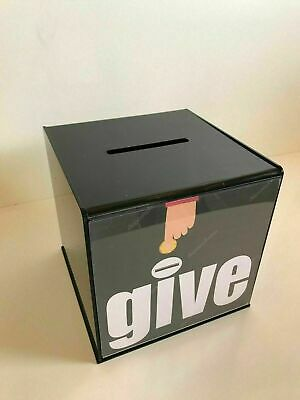 Collection Box 2 Sizes & 5 Colours - Lock & 2 Keys