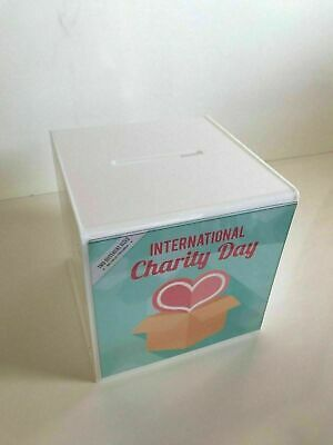 Suggestion Box Collection Box Choice 2 Sizes & 5 Colours - Lock & 2 Keys