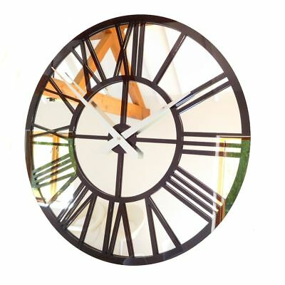 .Mirror Skeleton modern vintage Wall Clock