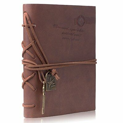 Journal Notebook  Meersee Vintage Style Notebook Leather Cover Notepad Pocket S