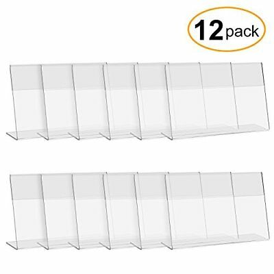 CRUODA Acrylic Sign Display Holder L,6x4, 12 pc, Display Stands, Menu Holders, T