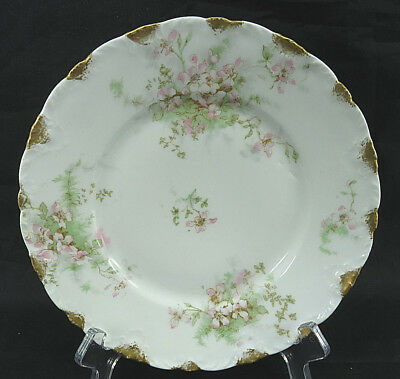 """Antique Theodore Haviland Limoges France Patent Applied For Plate 8"""" Gold Trim"""