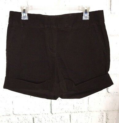 DAVID HOLLIS Womens SIZE 8 6? - RUN SMALL Pleated Front GRAY Cordurory SHORTS