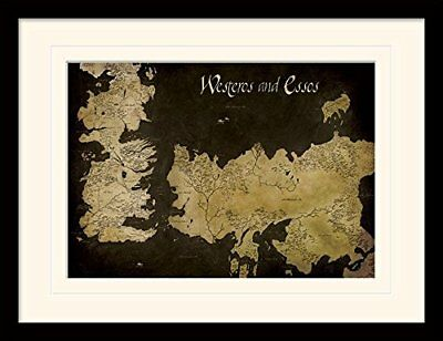 Game of Thrones 30 x 40 cm Westeros and Essos Antique Map Mounted and Framed Pri
