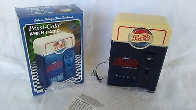 Vintage 1998 Pepsi Cola Vending Machine Novelty AM / FM Transistor Radio