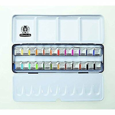 SCHMINCKE AKADEMIE Aquarell Solid metal box with 24 half pans - 75424