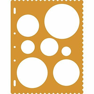 Fiskars Circles Shape Template - Orange