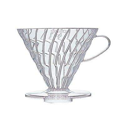 Hario VD-03T 1-Piece Plastic Coffee Dripper, Clear