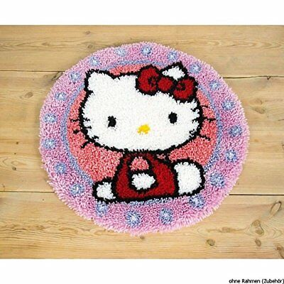Vervaco Hello Kitty Latch Hook Rug Kit, Multi-Colour