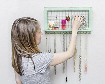 Jewellery Organizer Wall Mounted Chic Green - From SoCal Buttercup - Perfect for